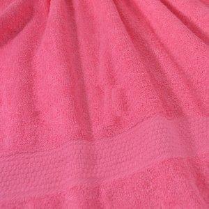 Полотенце гладкокрашенное Розовый 460 г/м2